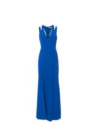Vestido de noche azul de Halston Heritage