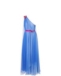 Vestido de noche azul de Talbot Runhof
