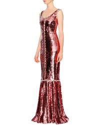 Vestido de noche burdeos de Dolce & Gabbana