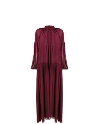 Vestido de noche burdeos de Stella McCartney