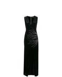 Vestido de noche con adornos negro de Balmain
