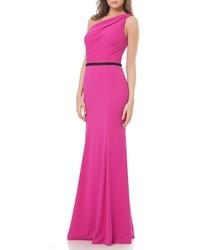 0c86b3530 ... Vestido de noche con cuentas rosa de Carmen Marc Valvo