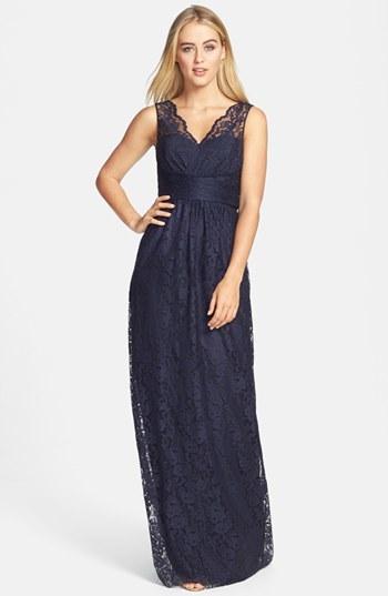 Vestido de noche en azul