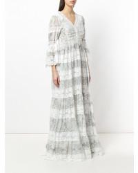 Vestido de noche de encaje blanco de Etro
