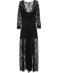 Vestido de noche de encaje negro