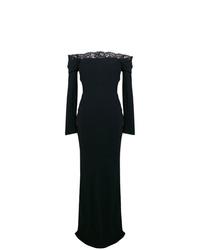 Vestido de noche de encaje negro de Alexander McQueen