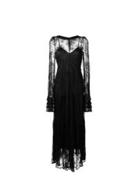 Vestido de noche de encaje negro de Black Coral