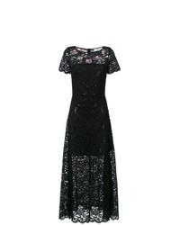 Vestido de noche de encaje negro de Blugirl