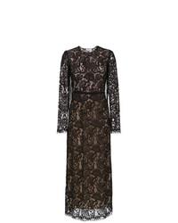 Vestido de noche de encaje negro de Nk