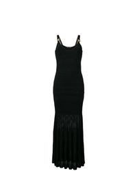 Vestido de noche de encaje negro de Versace