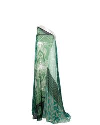 Vestido de noche de paisley en verde menta de Etro