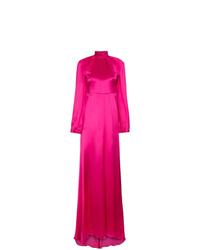 Vestido de noche de seda rosa de Gucci