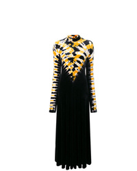 Vestido de noche efecto teñido anudado negro