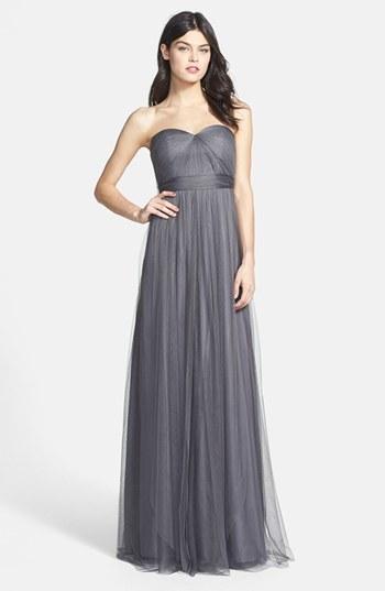 38100246c ... Vestido de noche en gris oscuro de Jenny Yoo ...