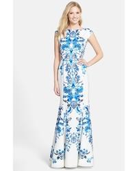 Vestidos de fiesta estampados azules