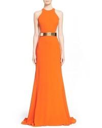 Vestido de noche naranja de Stella McCartney