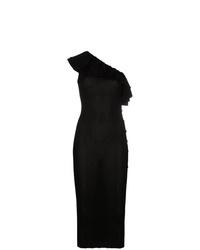 Vestido de noche negro de Balmain