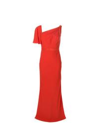 Vestido de noche rojo de Alexander McQueen