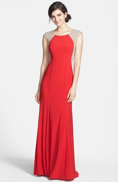 bce08a6fb ... Vestido de noche rojo de Xscape Evenings ...