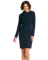 Combinar vestido azul marino invierno