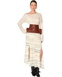 Vestido de Punto Blanco de Loewe