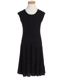 Vestido de punto negro de Ella Moss