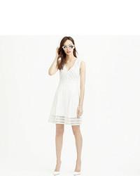 Vestido de rayas horizontales blanco de J.Crew