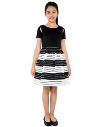 Vestido de rayas horizontales negro de Blush by Us Angels