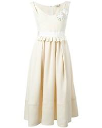 Vestido de seda blanco de Fendi