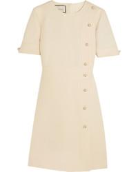 Vestido de seda con adornos blanco de Gucci