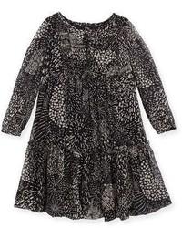 Vestido de seda negro de Burberry