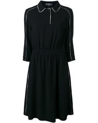 Vestido de seda negro de Salvatore Ferragamo