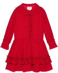 Vestido de seda rojo de Gucci