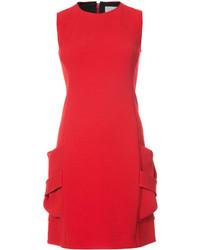 Vestido de seda rojo de Victoria Beckham