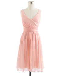 Vestido de seda rosado de J.Crew