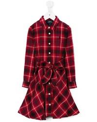 Vestido de tartán rojo de Ralph Lauren
