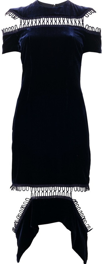 Vestido de terciopelo azul de Christopher Kane