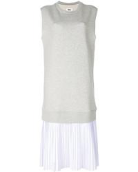 Vestido de tirantes blanco de MM6 MAISON MARGIELA