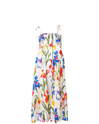 Vestido de tirantes con print de flores blanco de Tory Burch