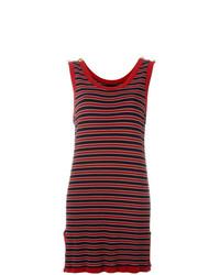Vestido de tirantes de rayas horizontales rojo de Moschino Vintage