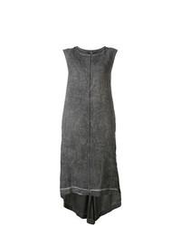 Vestido de tirantes en gris oscuro de Isaac Sellam Experience