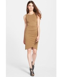 Vestido de tirantes marrón de Leith
