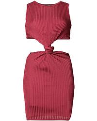 Vestido de tirantes rojo de Balmain
