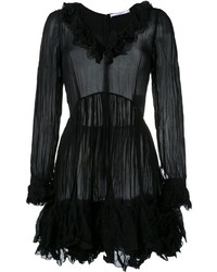 Vestido de vuelo con volante negro de Givenchy
