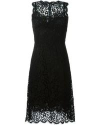Vestido de vuelo de encaje negro de Dolce & Gabbana