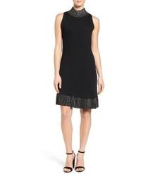 Vestido de vuelo de punto negro de MICHAEL Michael Kors
