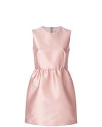 Vestido de vuelo de satén rosado