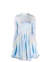 Vestido de vuelo efecto teñido anudado celeste de Stella McCartney