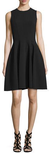 Vestido de vuelo negro de Michael Kors