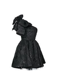 Vestido de vuelo negro de MSGM